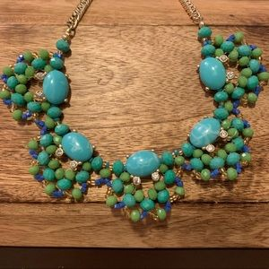 Loft Gold Beaded Statement Necklace